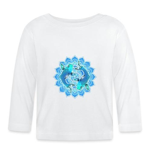 Asian Pond Carp - Koi Fish Mandala 1 - Baby Langarmshirt