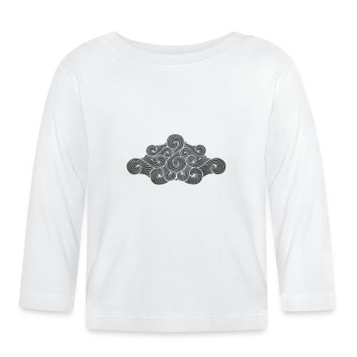 nuage noir et flocons blanc vacances d'hiver - T-shirt manches longues Bébé