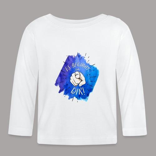 shirt blau tshirt druck - Baby Langarmshirt