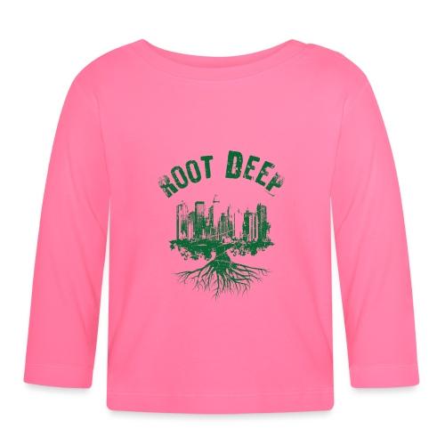 Root deep Urban grün - Baby Langarmshirt