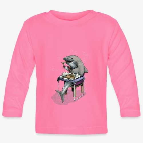 Shark's Fish and Chip dinner - Baby Long Sleeve T-Shirt