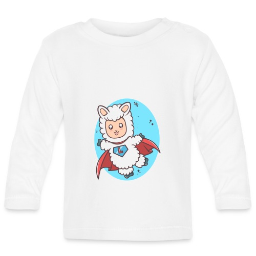 Super Llama - Langærmet babyshirt