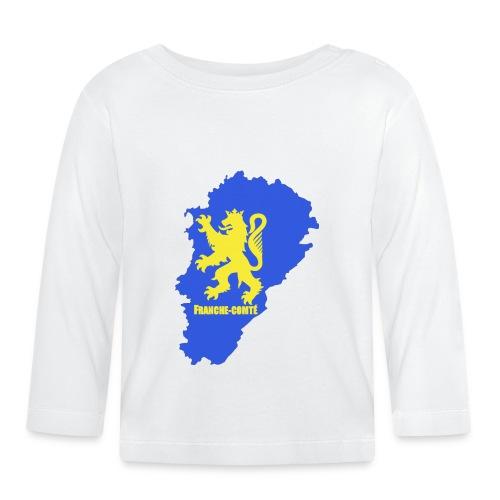 Carte Franche-Comté + lion - T-shirt manches longues Bébé