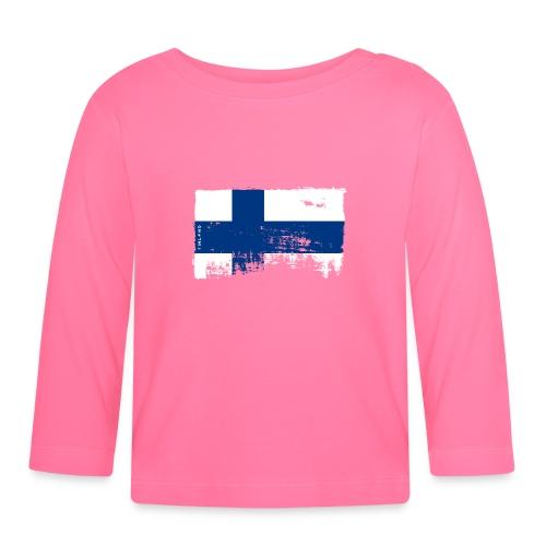 Suomen lippu, Finnish flag T-shirts 151 Products - Vauvan pitkähihainen paita