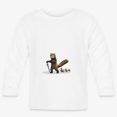 Red Panda with Ducks - Baby Long Sleeve T-Shirt