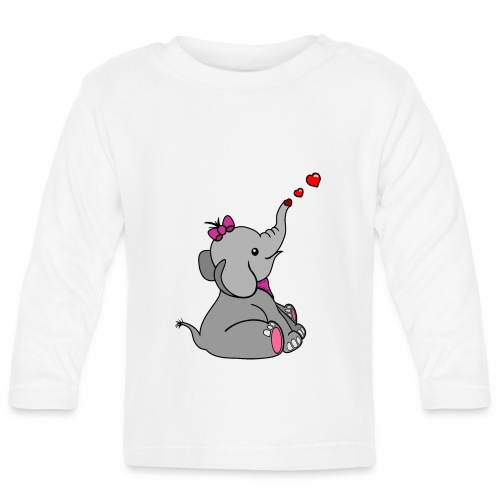 Elefant - Baby Langarmshirt