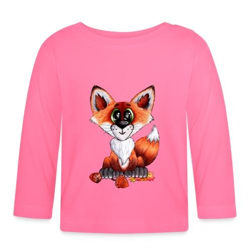 llwynogyn - a little red fox - Vauvan pitkähihainen paita