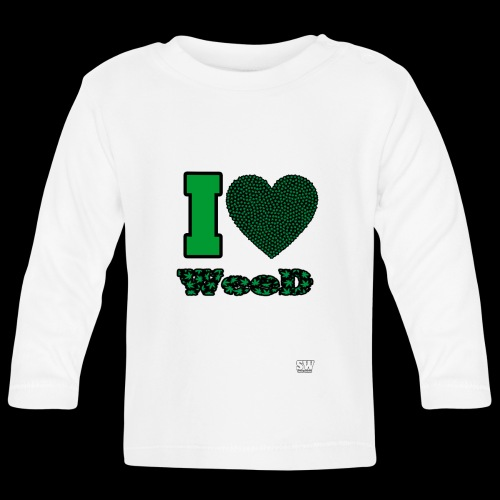 I Love weed - T-shirt manches longues Bébé