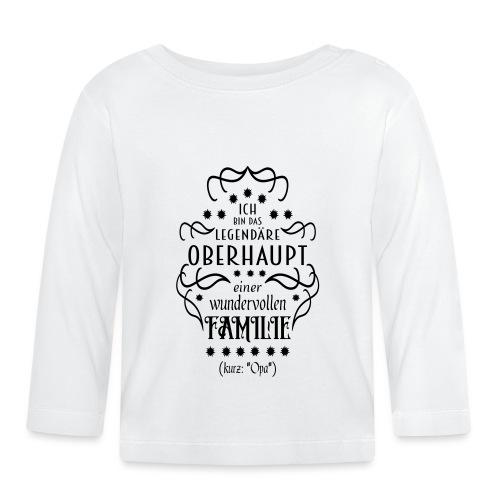 Familienoberhaupt Opa Spruch - Baby Langarmshirt