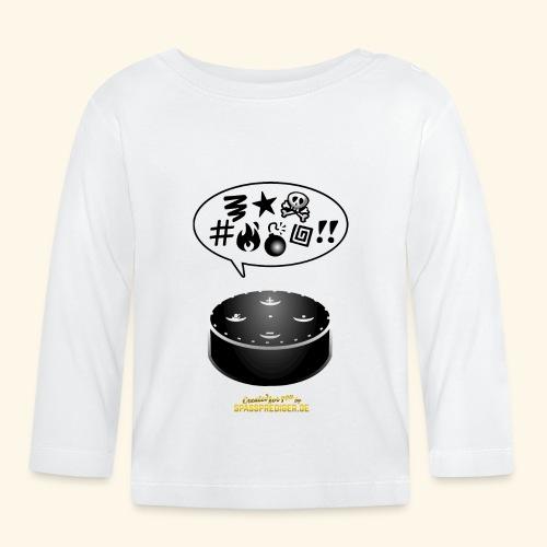 lustiges T-Shirt-Design Alexa flucht - Baby Langarmshirt