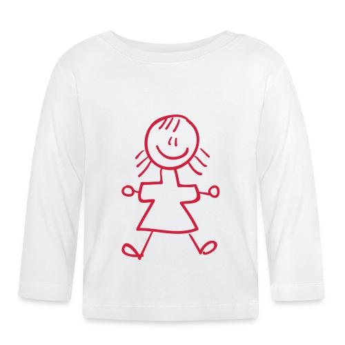 Kid Line Drawing Pixellamb - Baby Langarmshirt