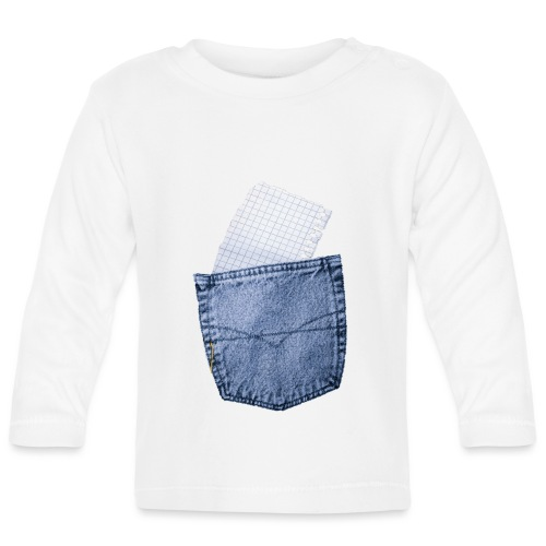 Jeans Baggy by #OneCreativeArts - Baby Langarmshirt