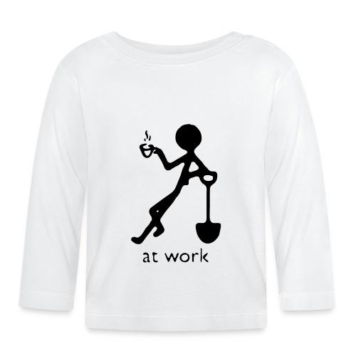 Bauarbeiter At work - Baby Langarmshirt