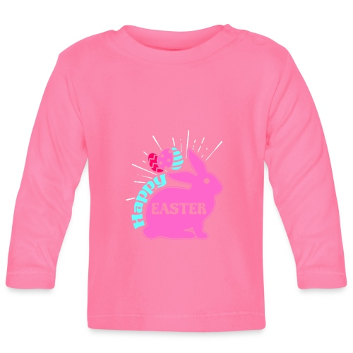 Happy Easter - Frohe Ostern - Baby Langarmshirt