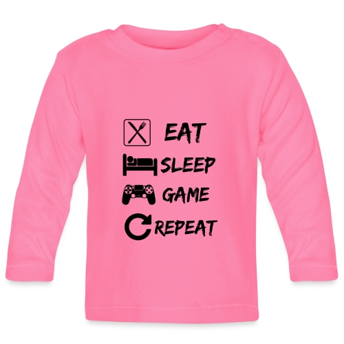 Eat_Sleep_Game_Repeat - Camiseta manga larga bebé