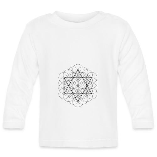 Flower of life and David Star - Langærmet babyshirt
