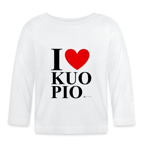 I LOVE KUOPIO ORIGINAL (musta) - Vauvan pitkähihainen paita