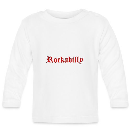rockabilly red contour noir - T-shirt manches longues Bébé