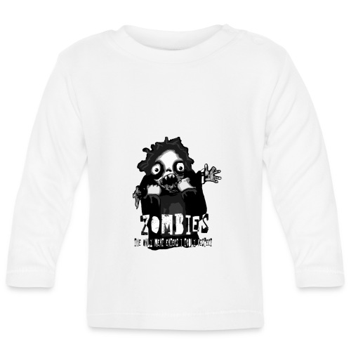 zombies - the only meat eaters i truly respect sv - Långärmad T-shirt baby