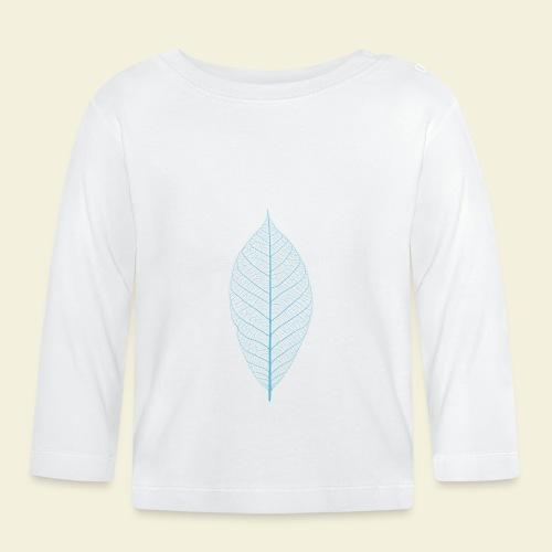 Feuille bleu Squelette - T-shirt manches longues Bébé