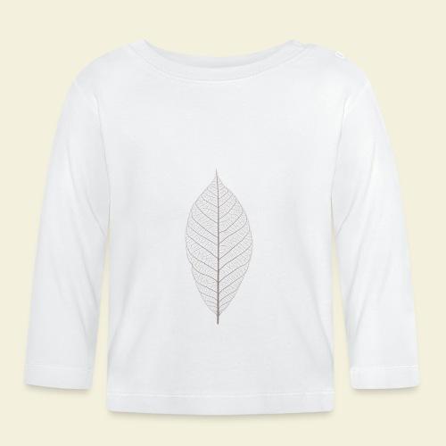 Feuille marron Squelette - T-shirt manches longues Bébé