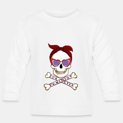 Feminist skull - Camiseta manga larga bebé