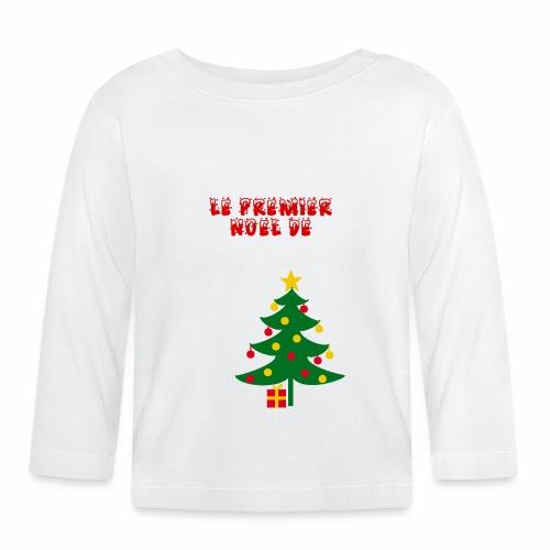 Premier Noël De (prénom à personnaliser) - T-shirt manches longues Bébé