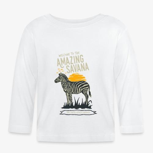 Zèbre - T-shirt manches longues Bébé