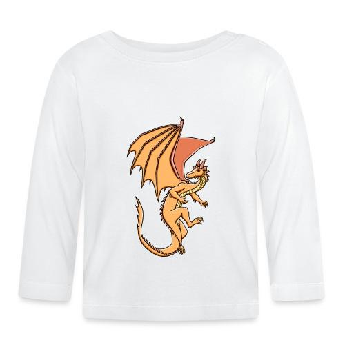 Drache, orange - Baby Langarmshirt