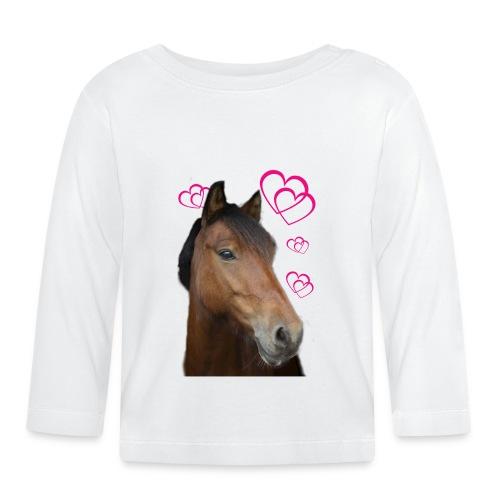 Hästälskare (Musse) - Långärmad T-shirt baby