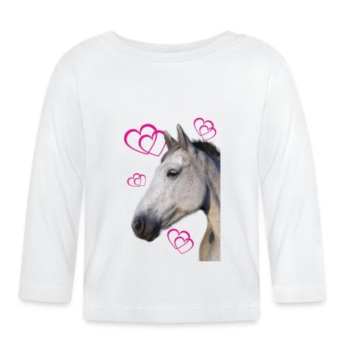 Hästälskare (maya) - Långärmad T-shirt baby