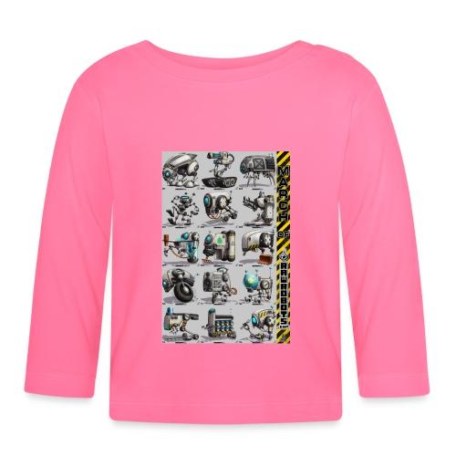 March of Rawrobots 01-15 - Langærmet babyshirt