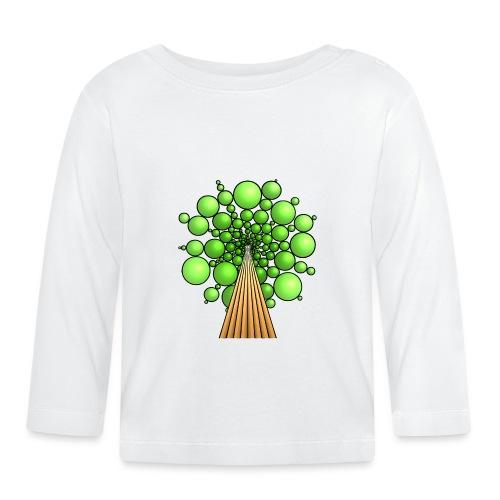 Kugel-Baum, 3d, hellgrün - Baby Langarmshirt