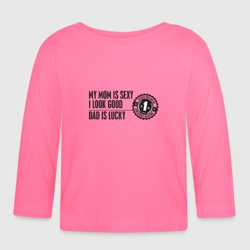 momloves png - Langærmet babyshirt