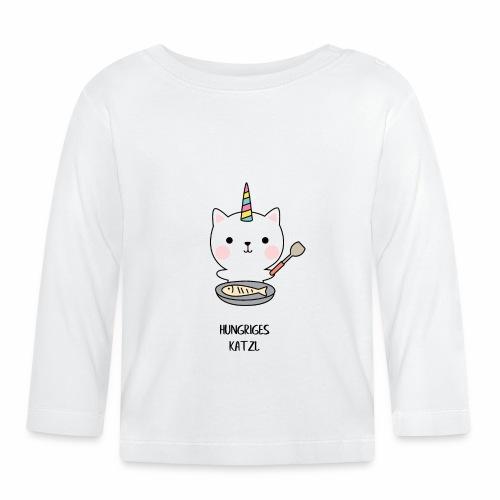 Hungriges Katzl - Baby Langarmshirt