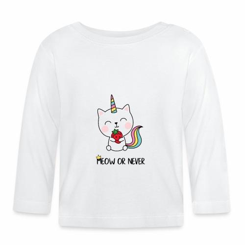 Meow or never - Baby Langarmshirt