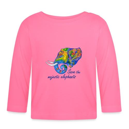 Save the majestic elephants - Baby Langarmshirt