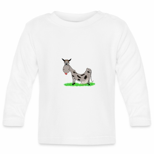 Kuh, Comic, Cartoon - Baby Langarmshirt