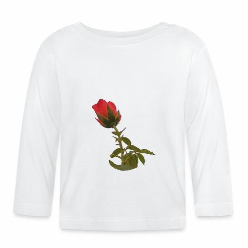 Rote Kletter Rose - Baby Langarmshirt