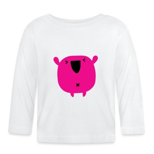 monster pink - Camiseta manga larga bebé