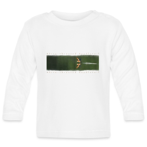 Swallow over the lake. Aerobatic reflection mirror - Baby Long Sleeve T-Shirt