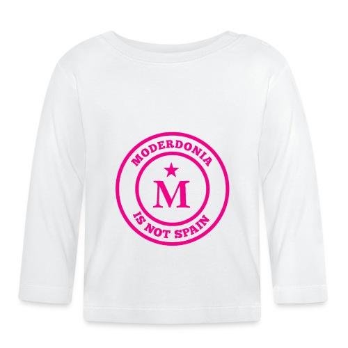 Moderdonia is not Spain rosa - Camiseta manga larga bebé