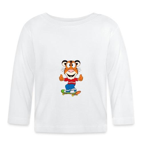 Lustiger Tiger - Skateboard - Sport - Kids - Baby - Baby Langarmshirt