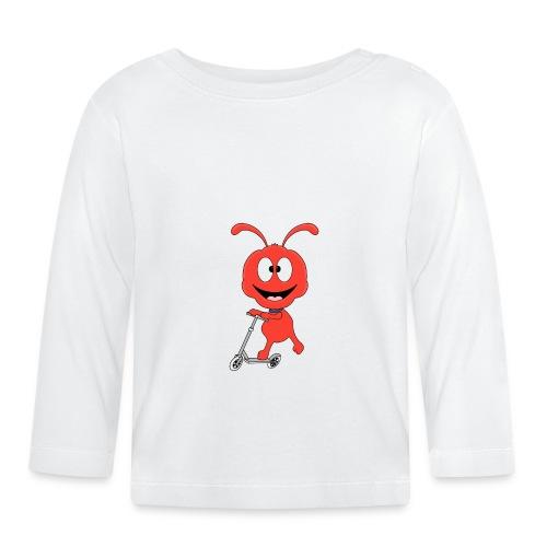 Lustige Ameise - Roller - Sport - Kind - Baby - Baby Langarmshirt