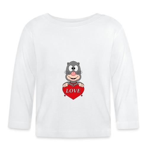 Lustiger Maulwurf - Herz - Liebe - Love - Fun - Baby Langarmshirt