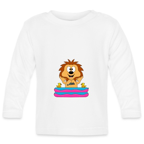 Lustiger Igel - Planschbecken - Aloha - Tier - Fun - Baby Langarmshirt