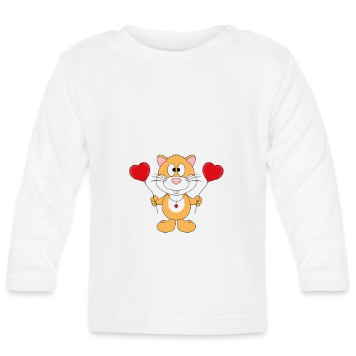 Lustiger Hamster - Herzen - Luftballons - Liebe - Baby Langarmshirt