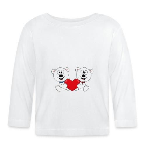 Lustige Eisbären - Herz - Liebe - Love - Fun - Baby Langarmshirt
