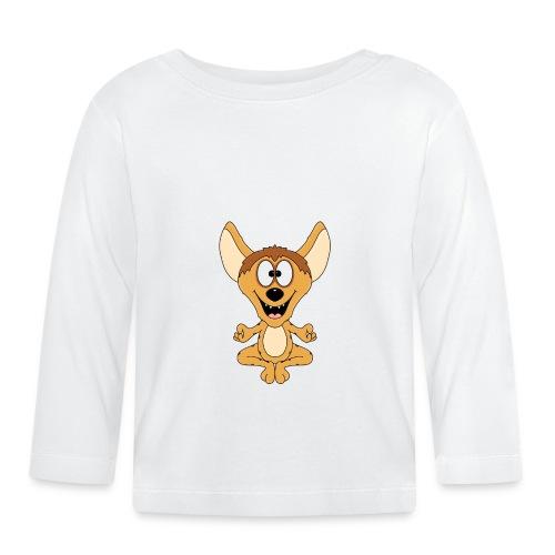 Lustige Hyäne - Yoga - Chillen - Relaxen - Fun - Baby Langarmshirt