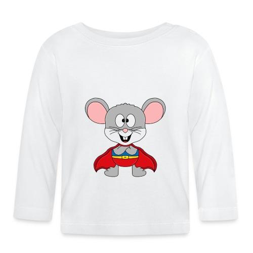 MAUS - SUPERHELD - TIER - KIND - BABY - FUN - Baby Langarmshirt